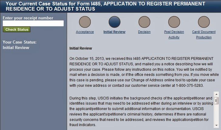 USCIS Acceptance Confirmation – Hello Anna!